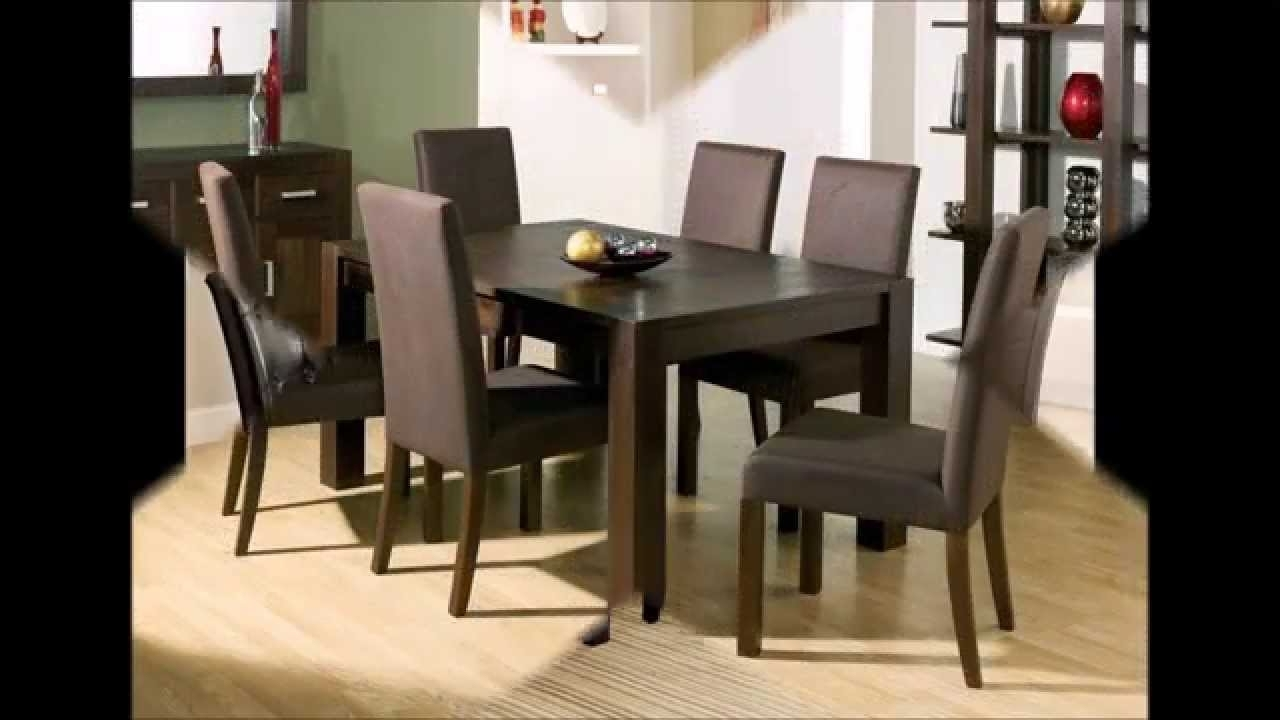Dark Wood Dining Room Furniture Regarding Favorite Elegant And Classy Dining Room Furniture – Youtube (Gallery 24 of 25)