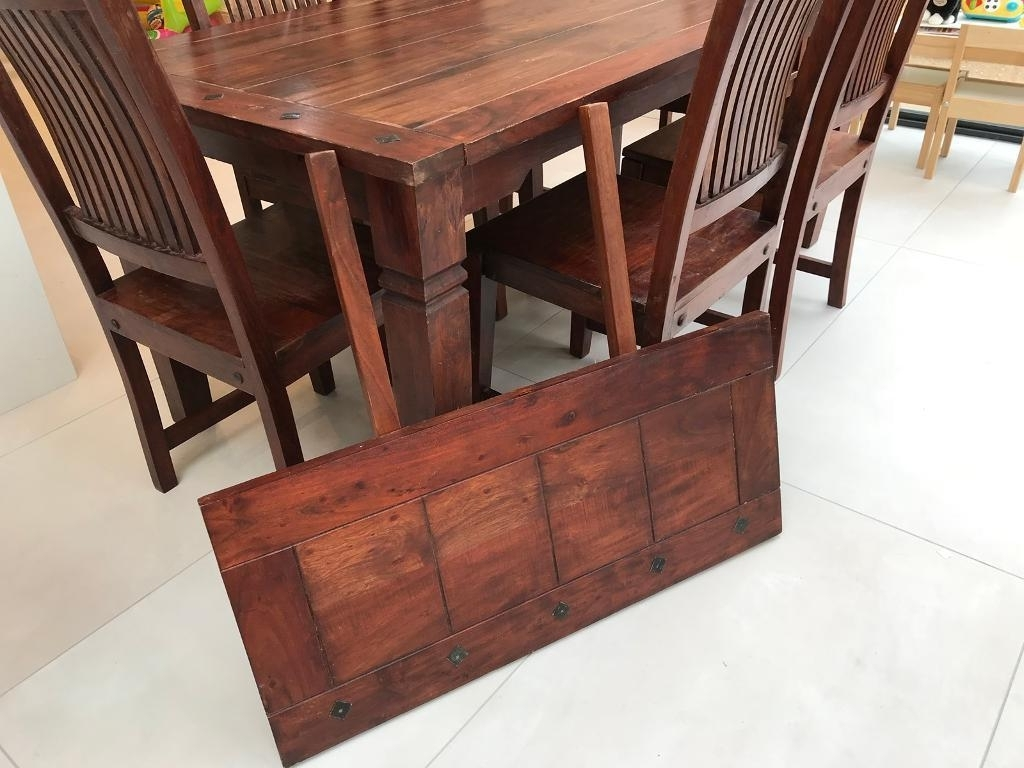 Dark Wood Dining Room Furniture With Best And Newest Extendable Dark Wood Dining Table With 6 Chairs And Extension Leaf (Gallery 22 of 25)