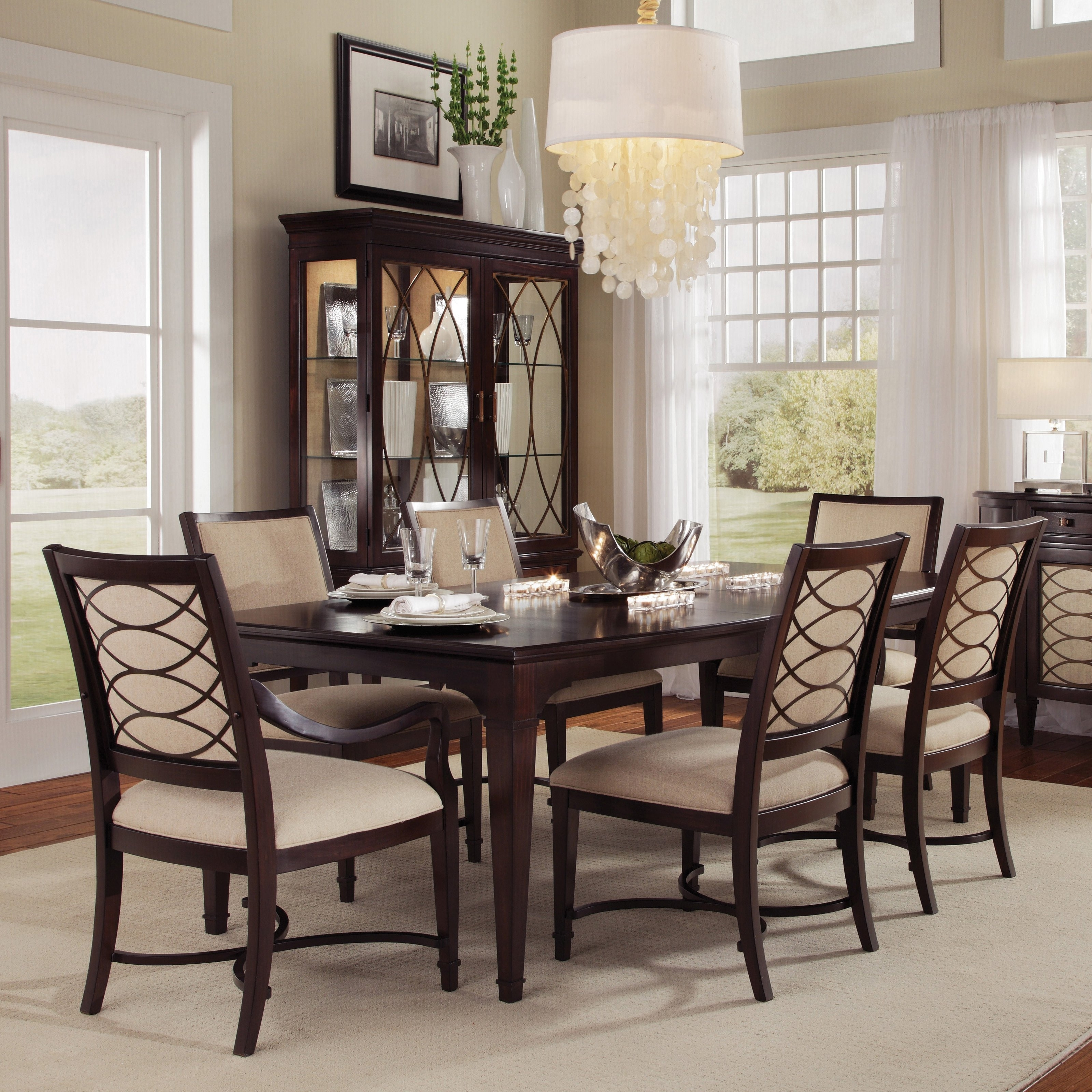 Dark Wood Dining Room Furniture With Most Popular Dark Wood Dining Table And Chairs Hot Pink Dining Chairs (Gallery 8 of 25)