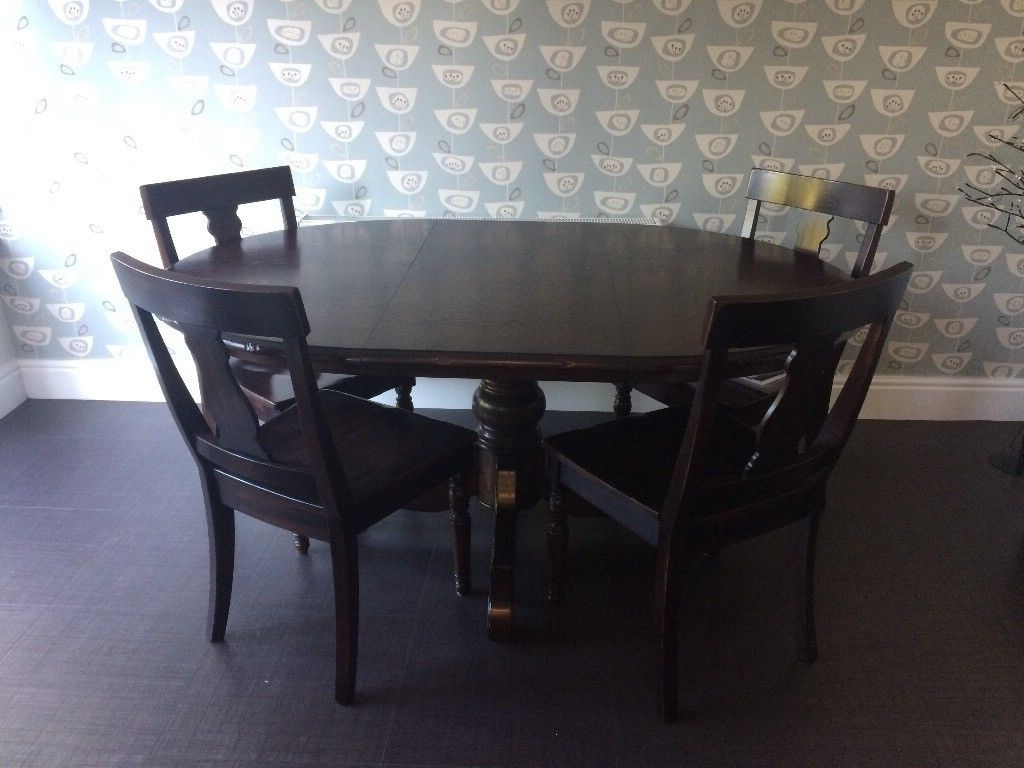 Dark Wood Dining Table And 6 Chairs (Gallery 8 of 25)