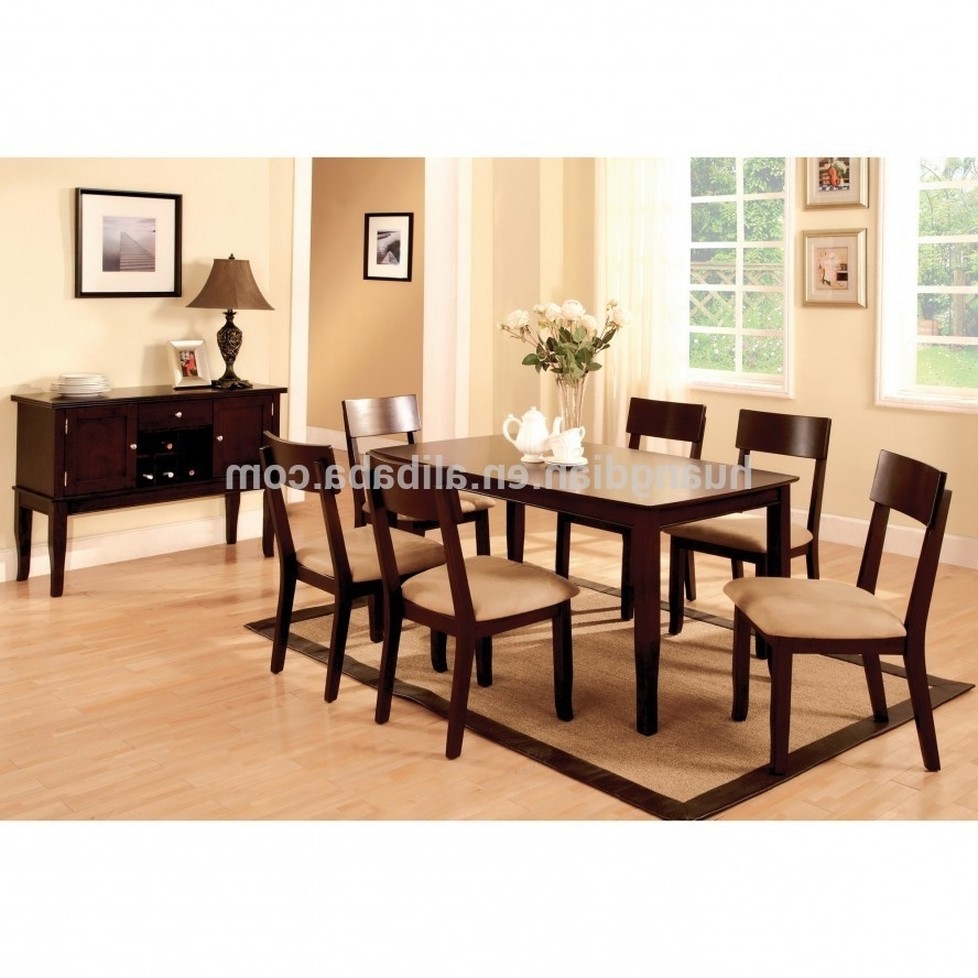 Dark Wood Dining Table Set Brown Color Wooden Floor Dt4001 - Buy with regard to Most Up-to-Date Dark Wood Dining Room Furniture