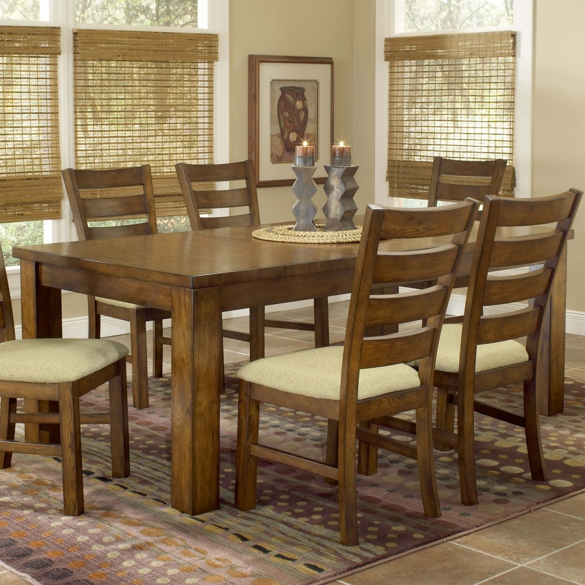 Dark Wood Dining Tables And Chairs With 2017 Wonderful Wooden Dining Room Chairs — Bluehawkboosters Home Design (View 18 of 25)