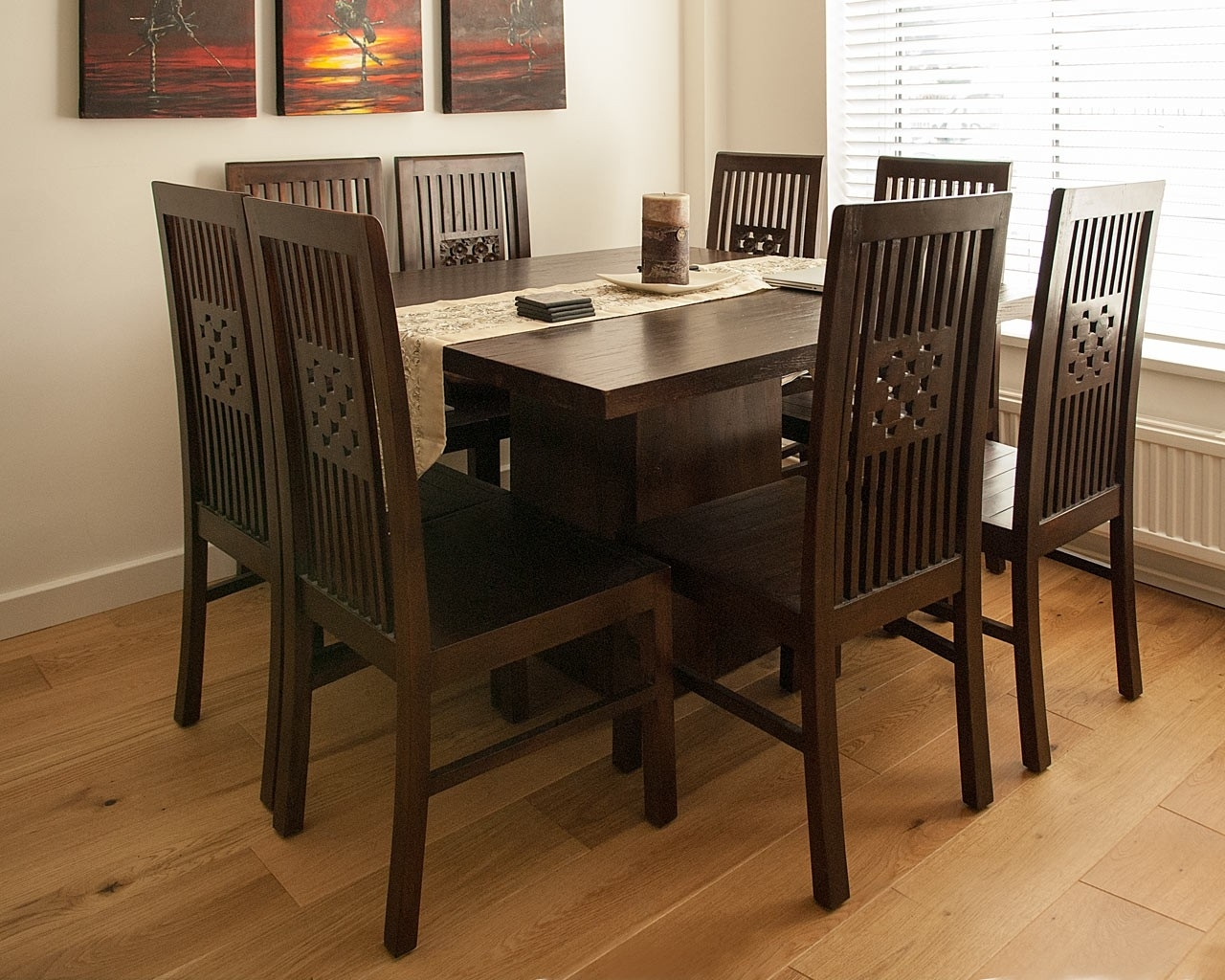 Dark Wood Dining Tables in Most Up-to-Date Dark Wood Square Table - Contemporary Teak Dining Tables