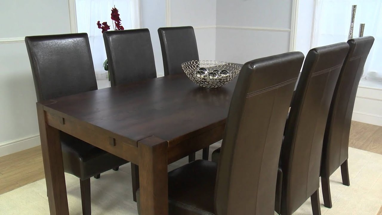Dark Wood Dining Tables pertaining to Most Recent Dark Wood Furniture: Large Verona Oak Dining Table - Youtube