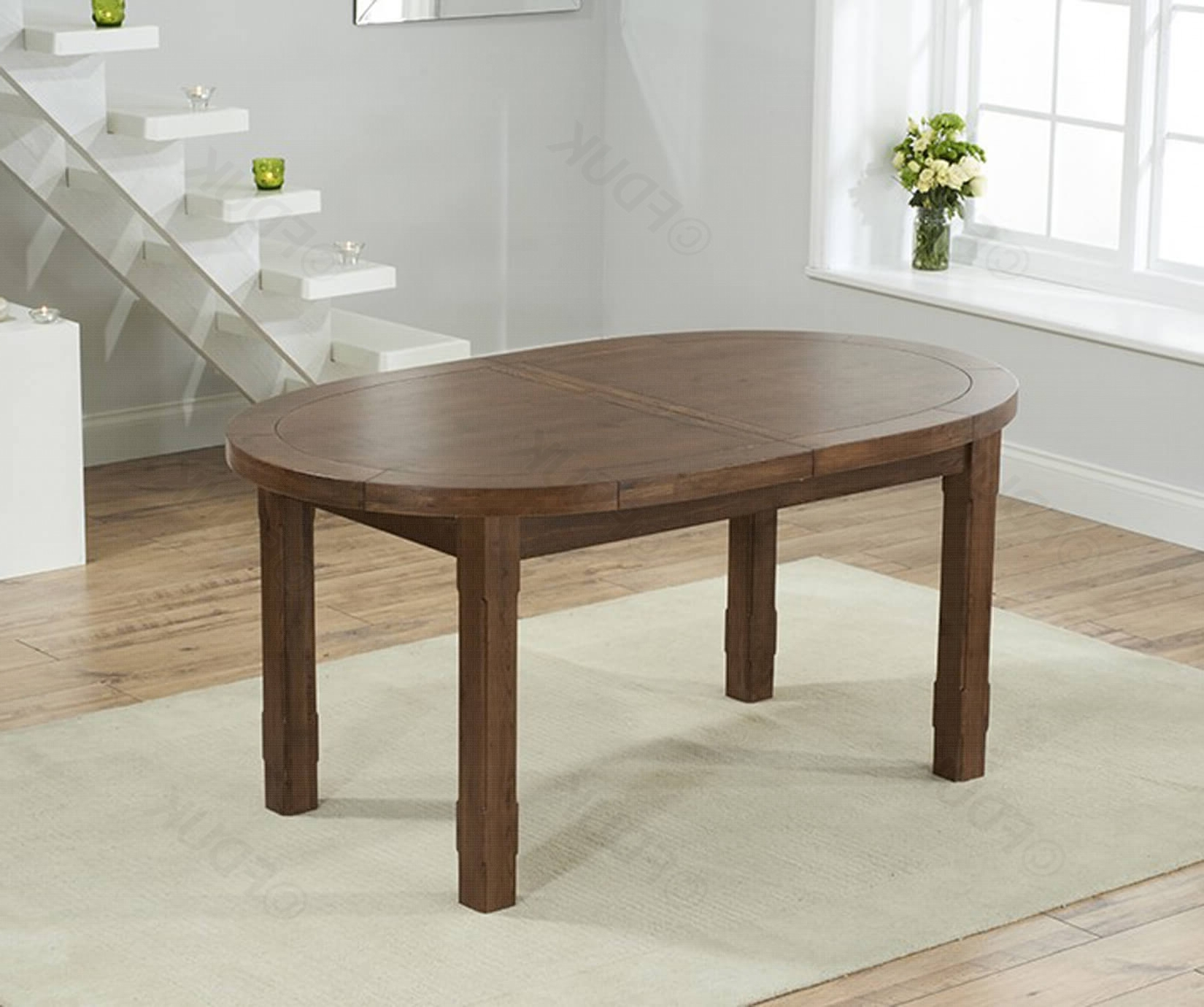 Dark Wood Extending Dining Tables Intended For Latest Mark Harris Cheyenne (Gallery 17 of 25)