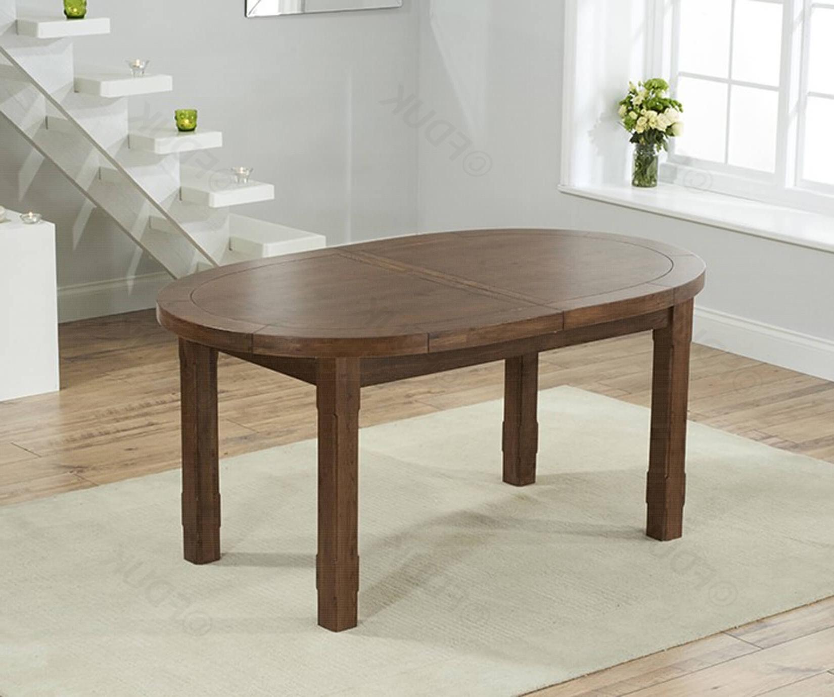 Dark Wood Extending Dining Tables intended for Latest Mark Harris Cheyenne