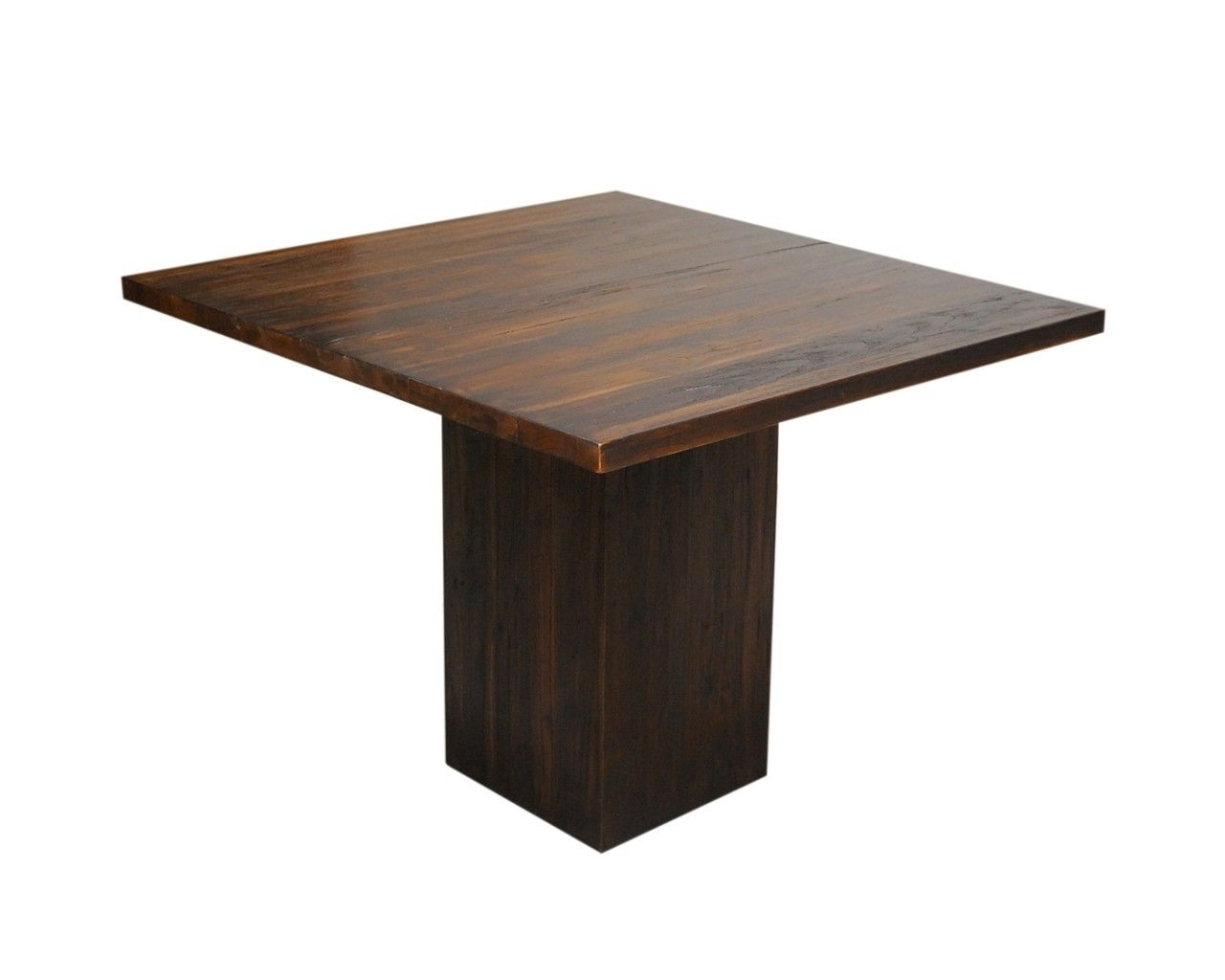 Dark Wood Square Dining Tables Pertaining To Latest Dining Room : Dark Wood Square Table Contemporary Teak Dining Tables (Gallery 2 of 25)