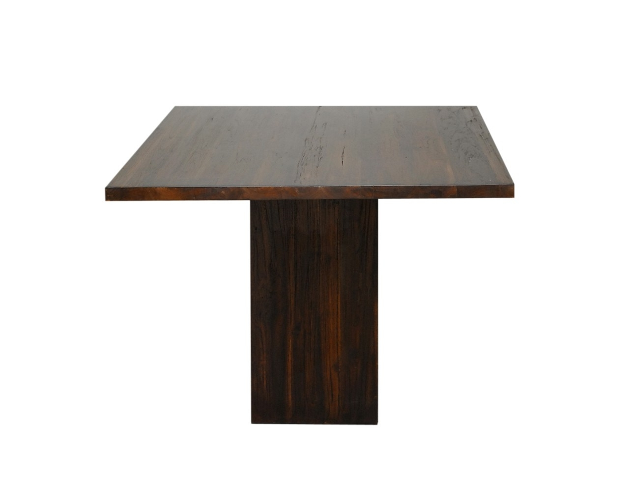 Dark Wood Square Table - Contemporary Teak Dining Tables with Most Up-to-Date Dark Wood Square Dining Tables