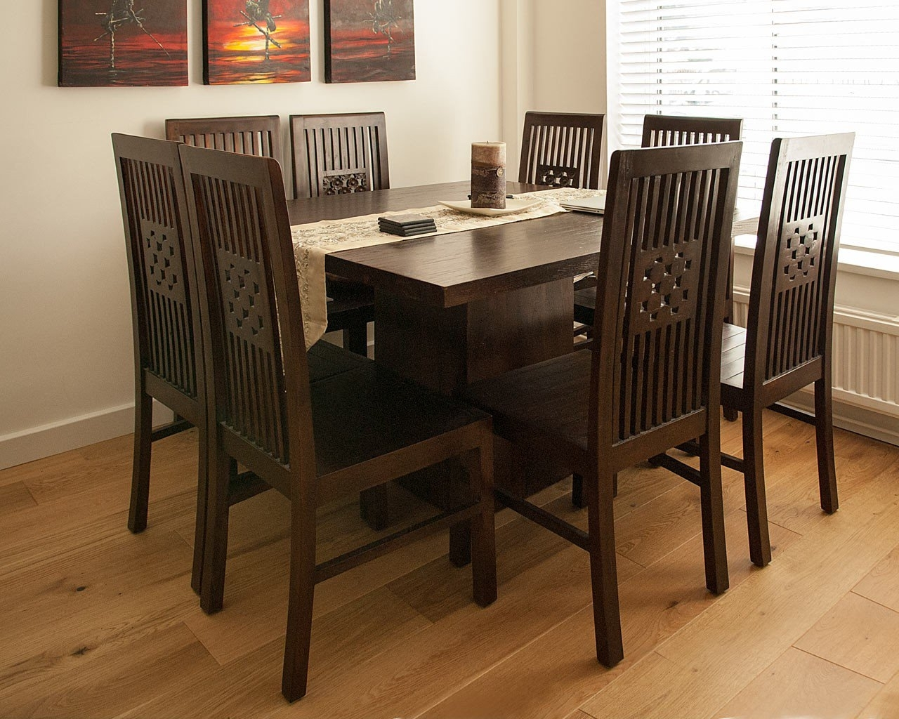 Dark Wood Square Table - Contemporary Teak Dining Tables within Best and Newest Dark Dining Tables