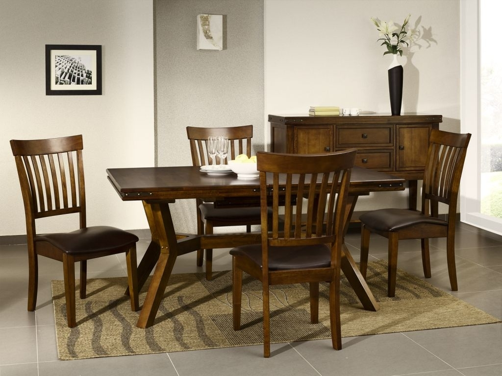 Dark Wooden Dining Tables For Recent Cuba Dark Wood Furniture Dining Table And Chairs Set Ebay Dark Wood (View 4 of 25)