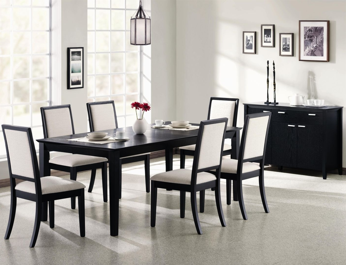 Dark Wooden Dining Tables In Most Recently Released Louise Black Wood Dining Table Set – Steal A Sofa Furniture Outlet (View 8 of 25)