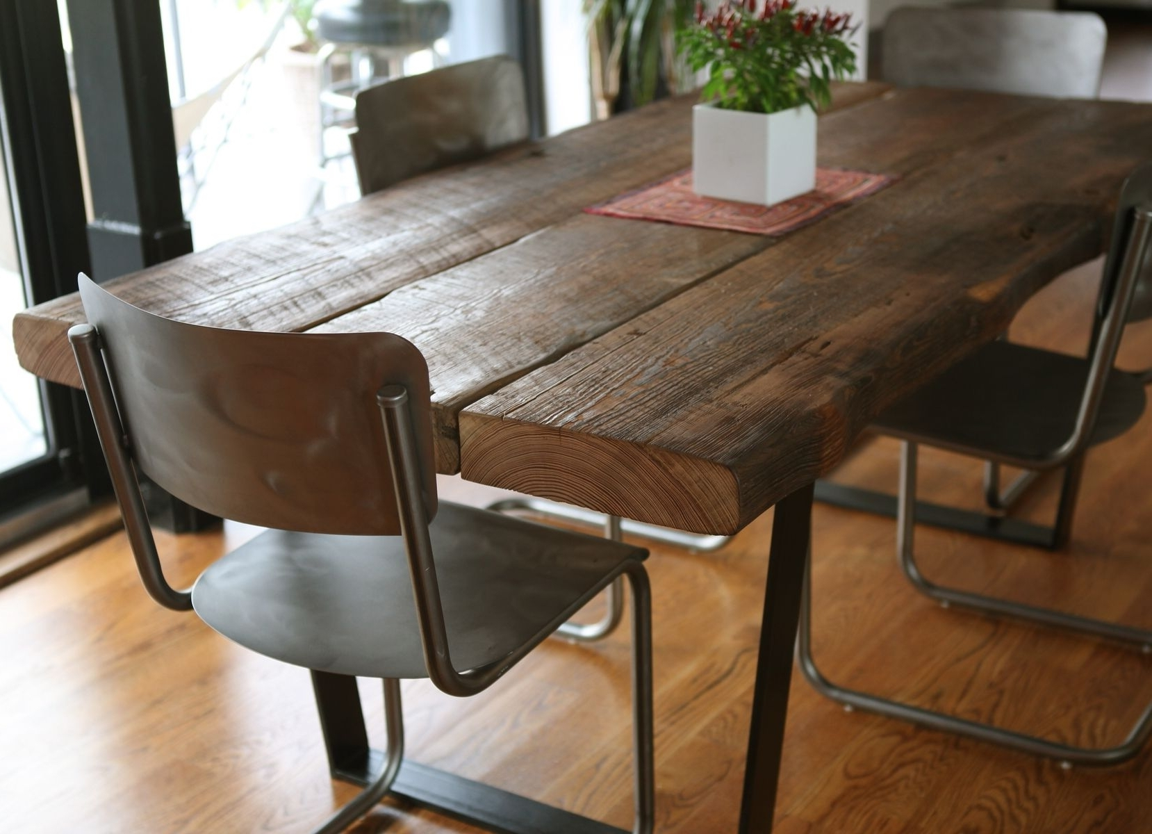 Dark Wooden Dining Tables Inside Preferred Alluring Dark Rustic Kitchen Tables 10 Image Of Decoration Ideas New (View 7 of 25)