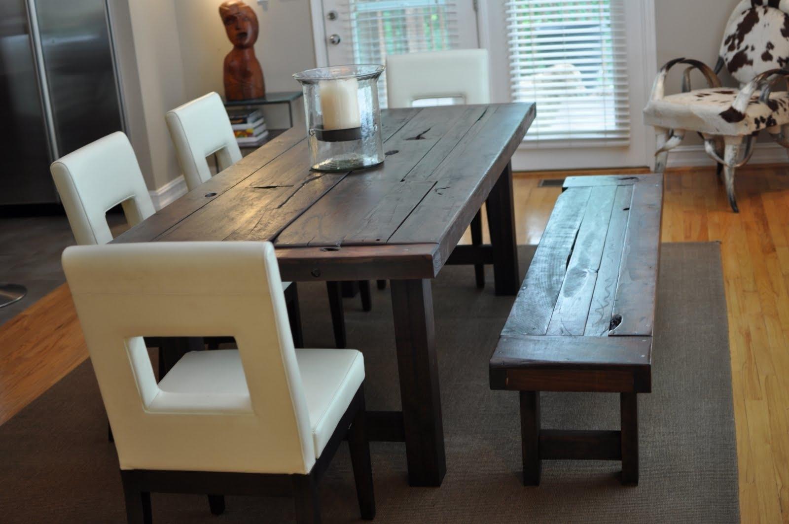 Dark Wooden Dining Tables regarding Most Current Dining Room Handcrafted Wooden Dining Tables Dark Wood Dining Table