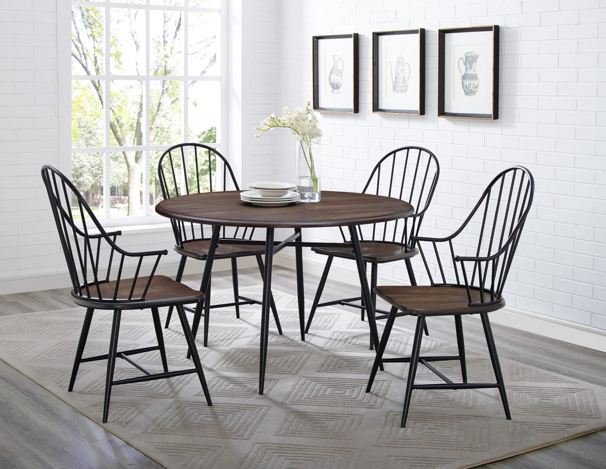 Davis Home Furniture - Asheville, Canton & Waynesville, Nc in Jaxon 5 Piece Extension Round Dining Sets With Wood Chairs
