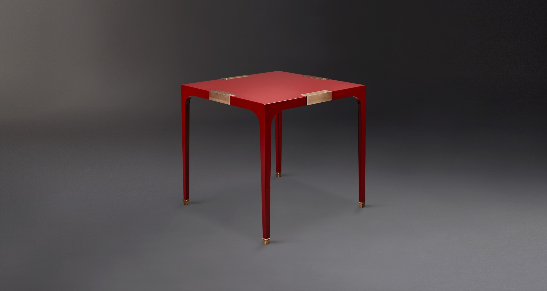 Dc Table: Dining Table In Semi Gloss And Bronze pertaining to Red Gloss Dining Tables
