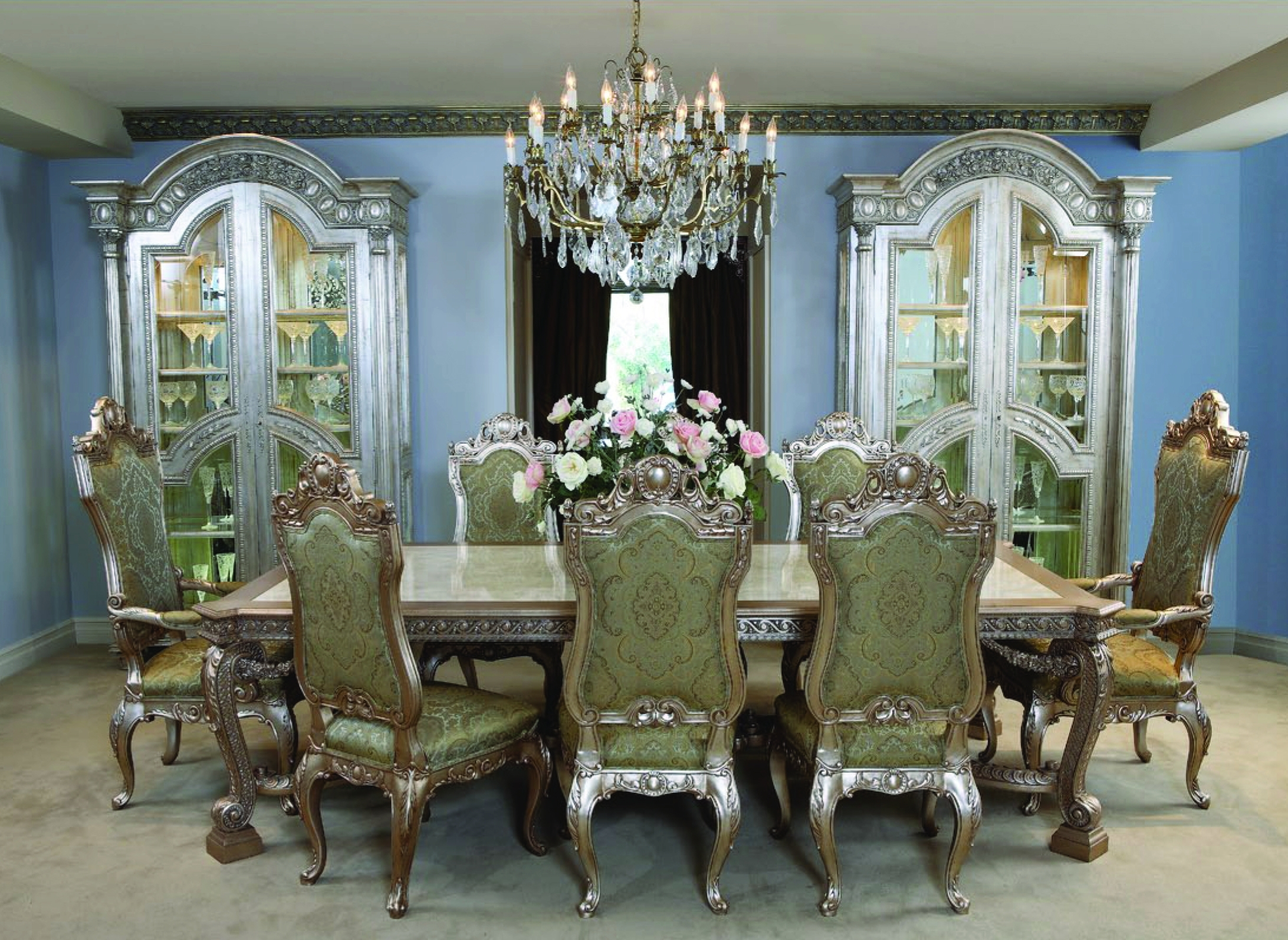 De Medici Dining Table & Chairs – Seating For 10 (Gallery 16 of 25)
