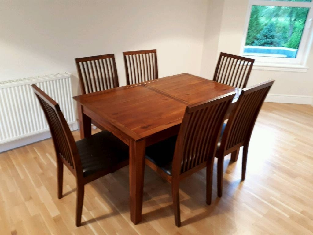 Debenhams Dark Wood Dining Table & 6 Chairs