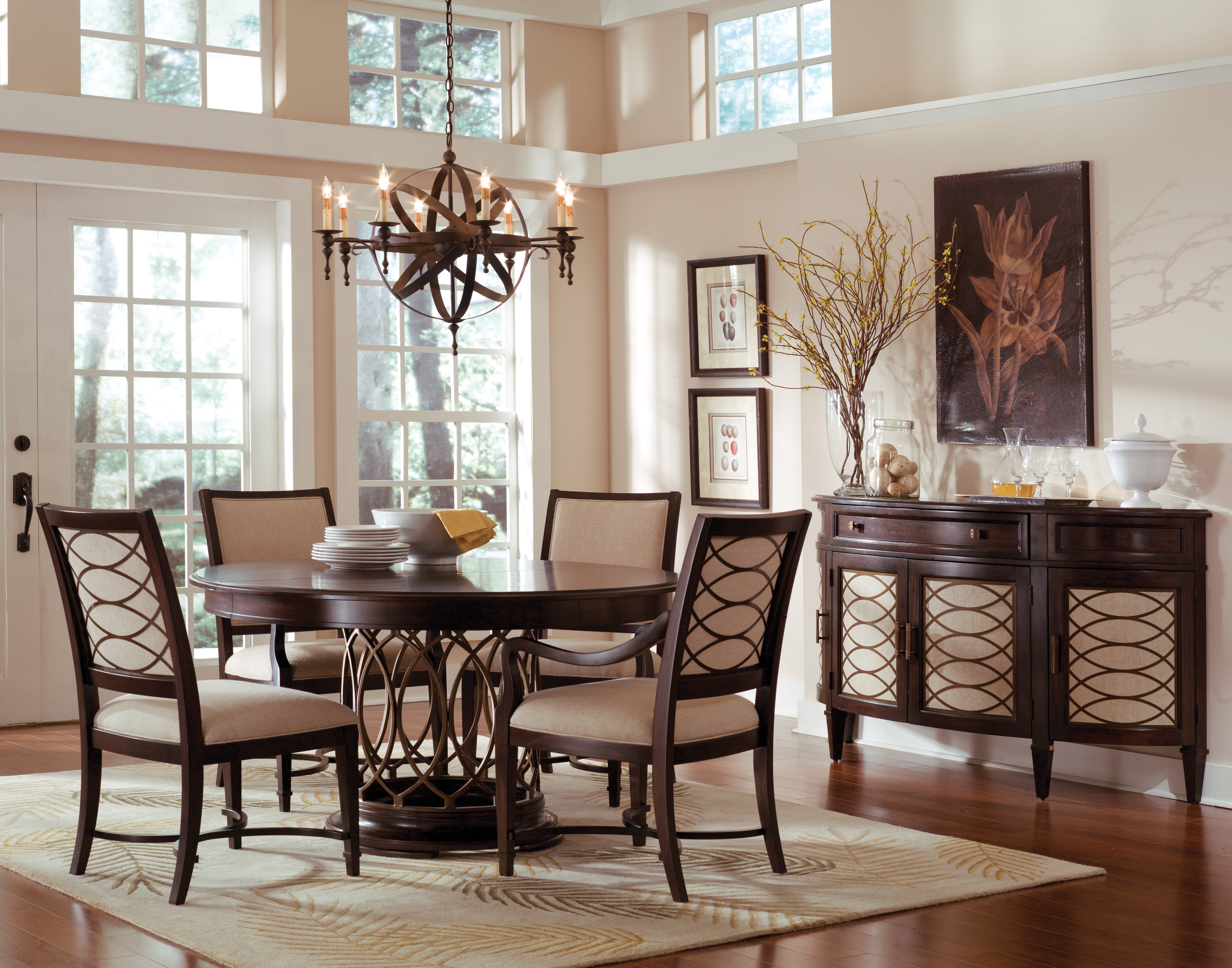 Decorating Nice Dining Table Set 6 Seater And House Beautiful Rooms In Recent Candice Ii Round Dining Tables (View 10 of 25)