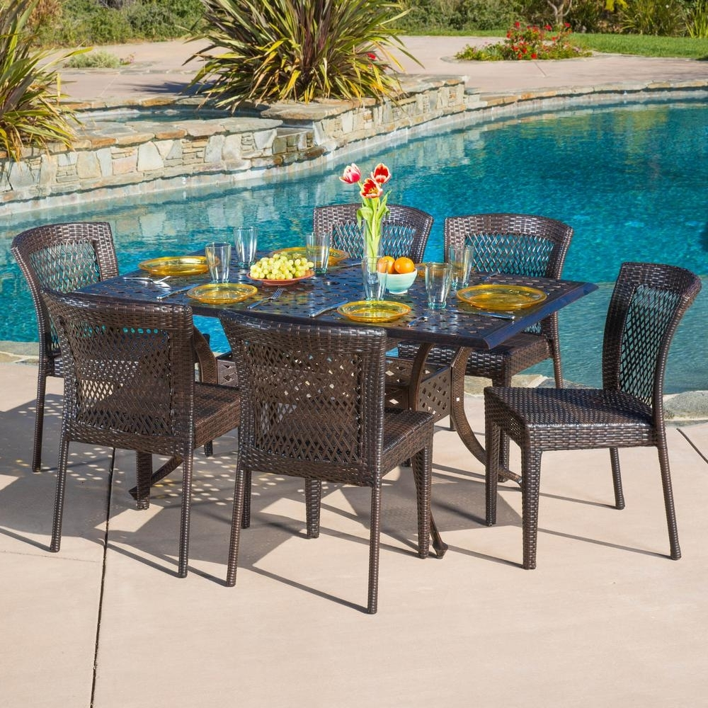 Delfina 7 Piece Dining Sets intended for Well known Found It At Wayfair - Blakely 7 Piece Dining Set