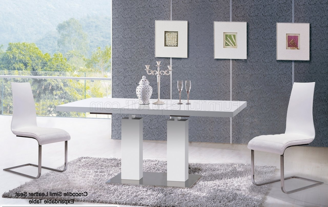 Delfina Dining Tables Pertaining To Favorite Va9830 Delfina Dining Table In Whiteat Home Usa W/options (View 4 of 25)