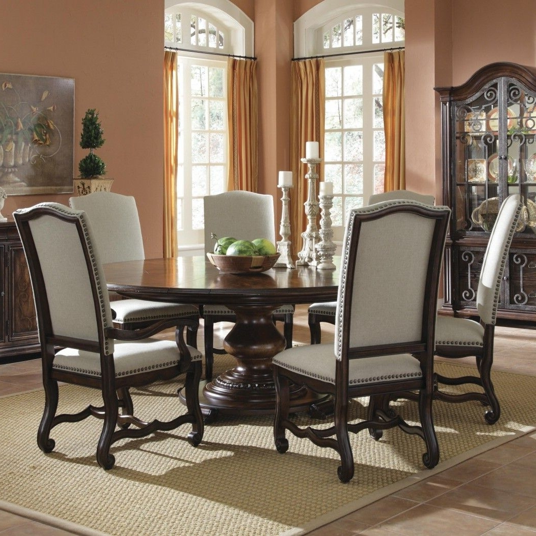 Delightful Modern Round Dining Table Set For 6 Large Ashley Seats Within Recent 6 Seat Round Dining Tables (View 14 of 25)