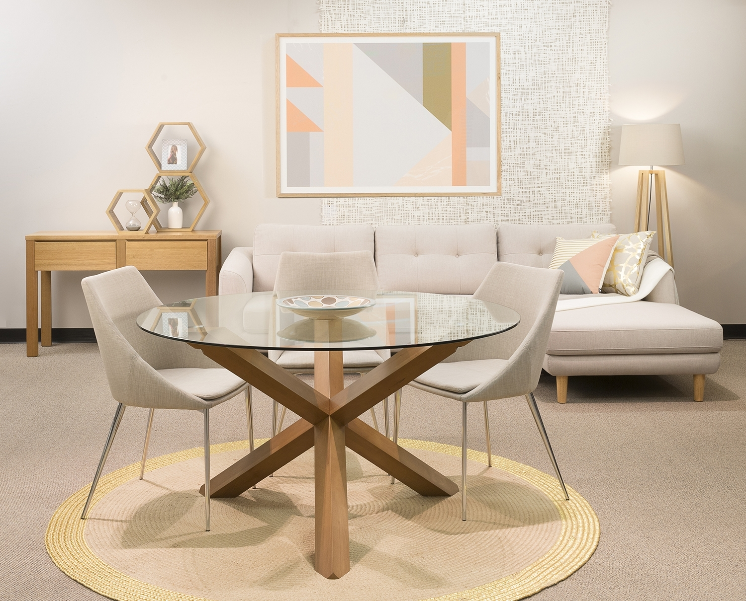 Dezign Furniture & Homewares Stores – Sydney Throughout Glass Dining Tables With Oak Legs (View 3 of 25)