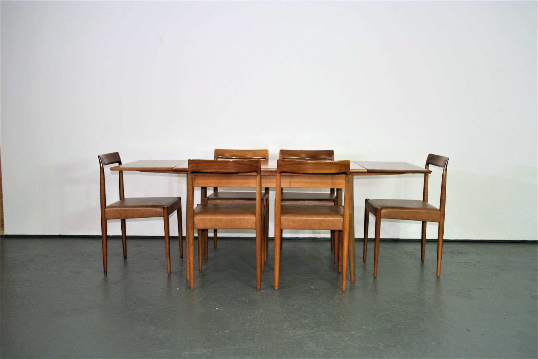 Dining Chairs And Extendable Dining Table From Lübke, 1960S For Sale With Popular Extendable Dining Tables With 6 Chairs (Gallery 18 of 25)
