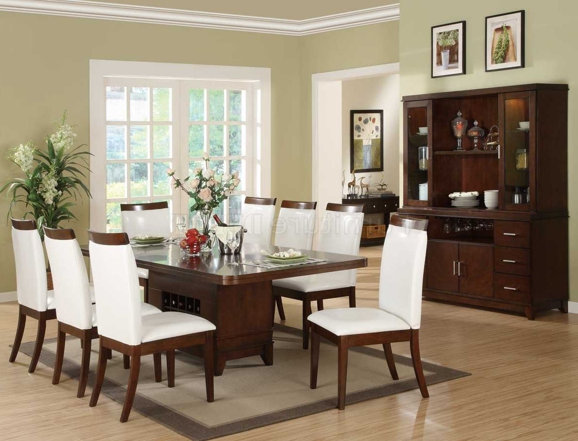 Dining Chairs Design Ideas Regarding Latest White Leather Dining Room Chairs (Gallery 8 of 25)