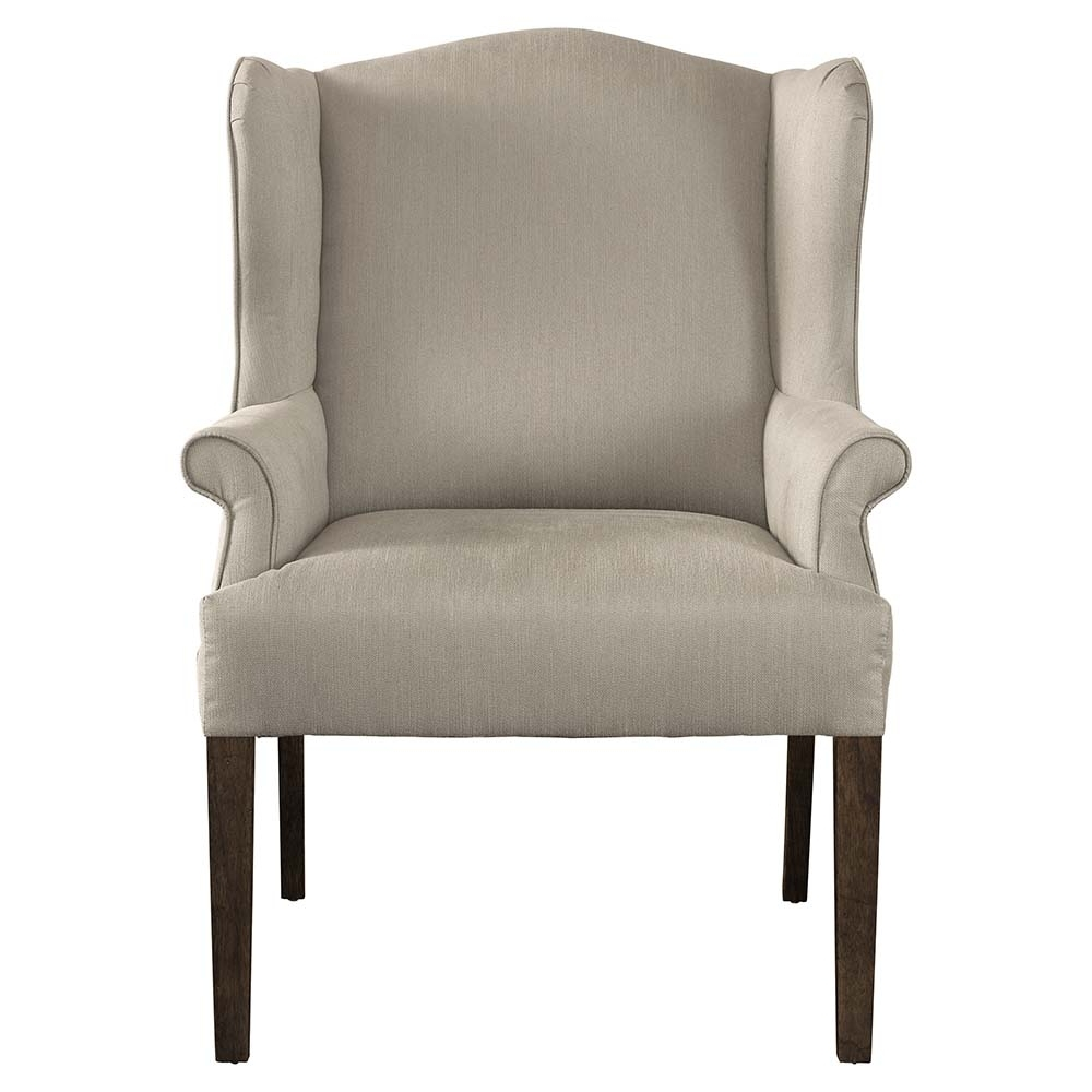 Dining Chairs Inside Well Liked Upholstered Off White Dining Chair (Gallery 24 of 25)
