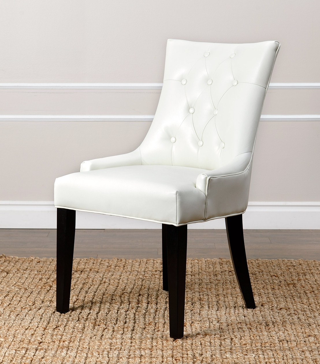 Dining Chairs : Napa Leather Dining Chair, Ivory intended for Best and Newest Ivory Leather Dining Chairs
