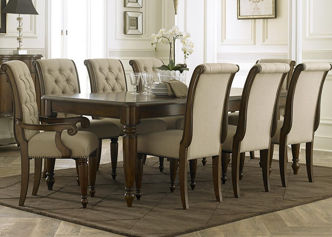 Dining, Dining intended for Laurent 7 Piece Rectangle Dining Sets With Wood And Host Chairs