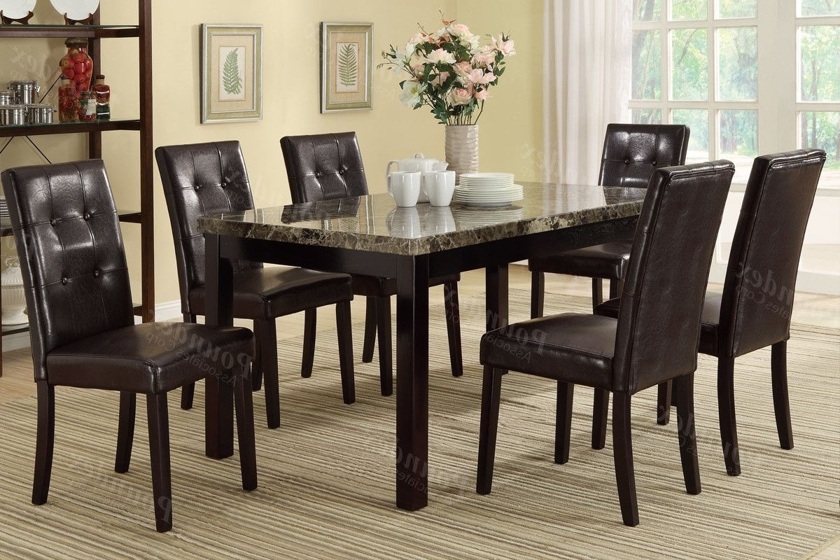 Dining in Best and Newest Craftsman 7 Piece Rectangle Extension Dining Sets With Arm & Side Chairs