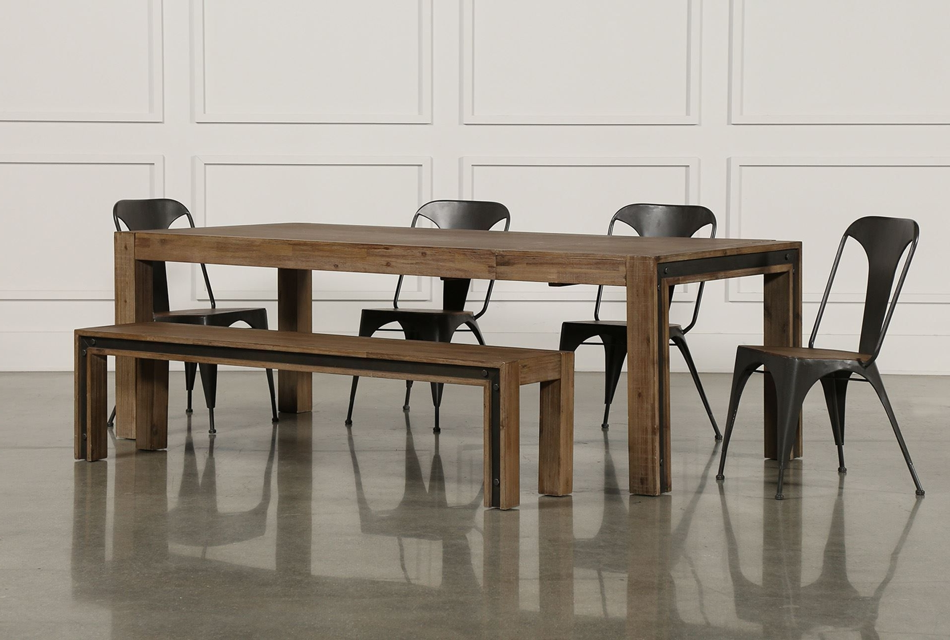 Dining, Industrial With Regard To Candice Ii Extension Rectangle Dining Tables (View 7 of 25)