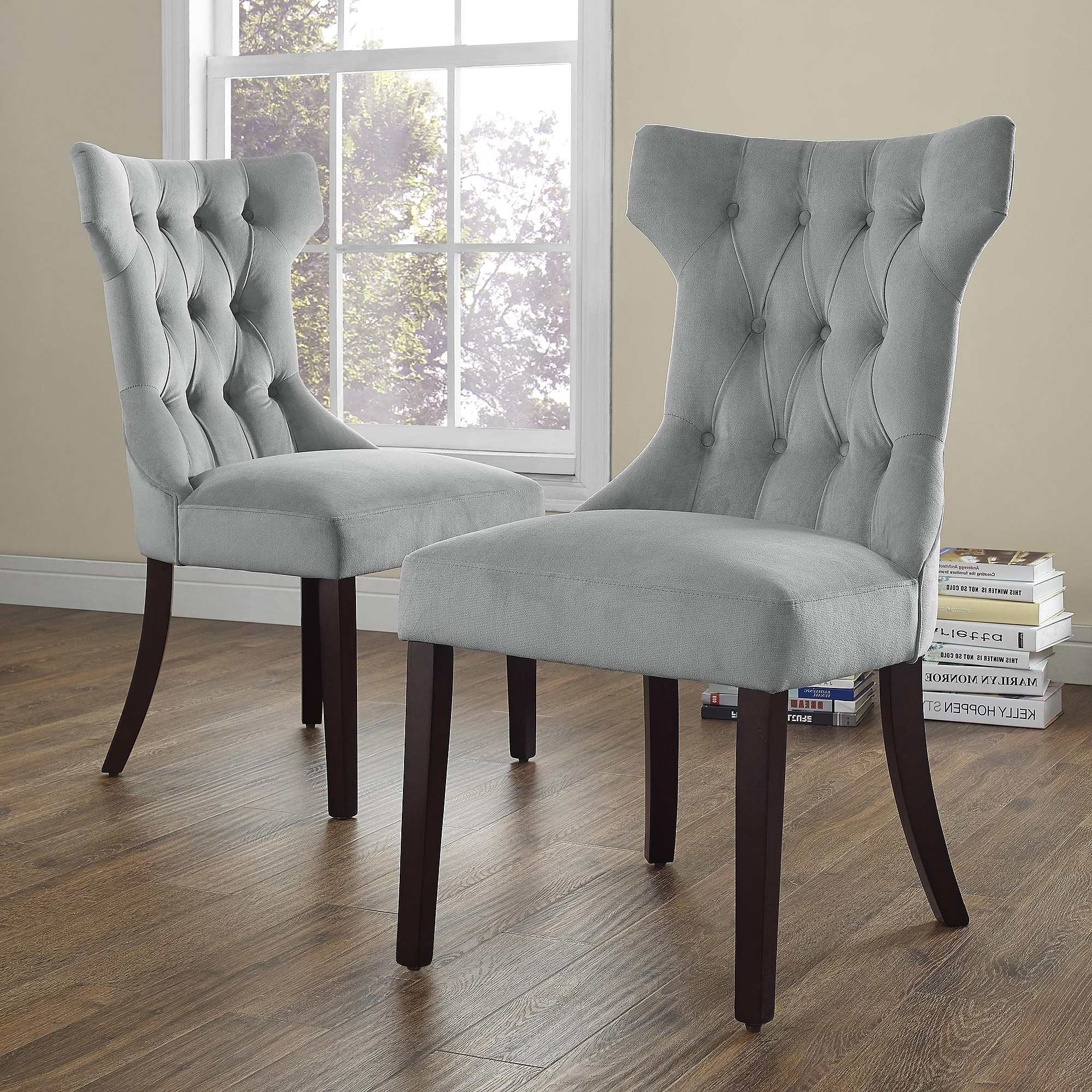 Dining Room Chairs Within Most Recent Dorel Living Clairborne Tufted Upholestered Dining Chair, Set Of 2 (Gallery 2 of 25)