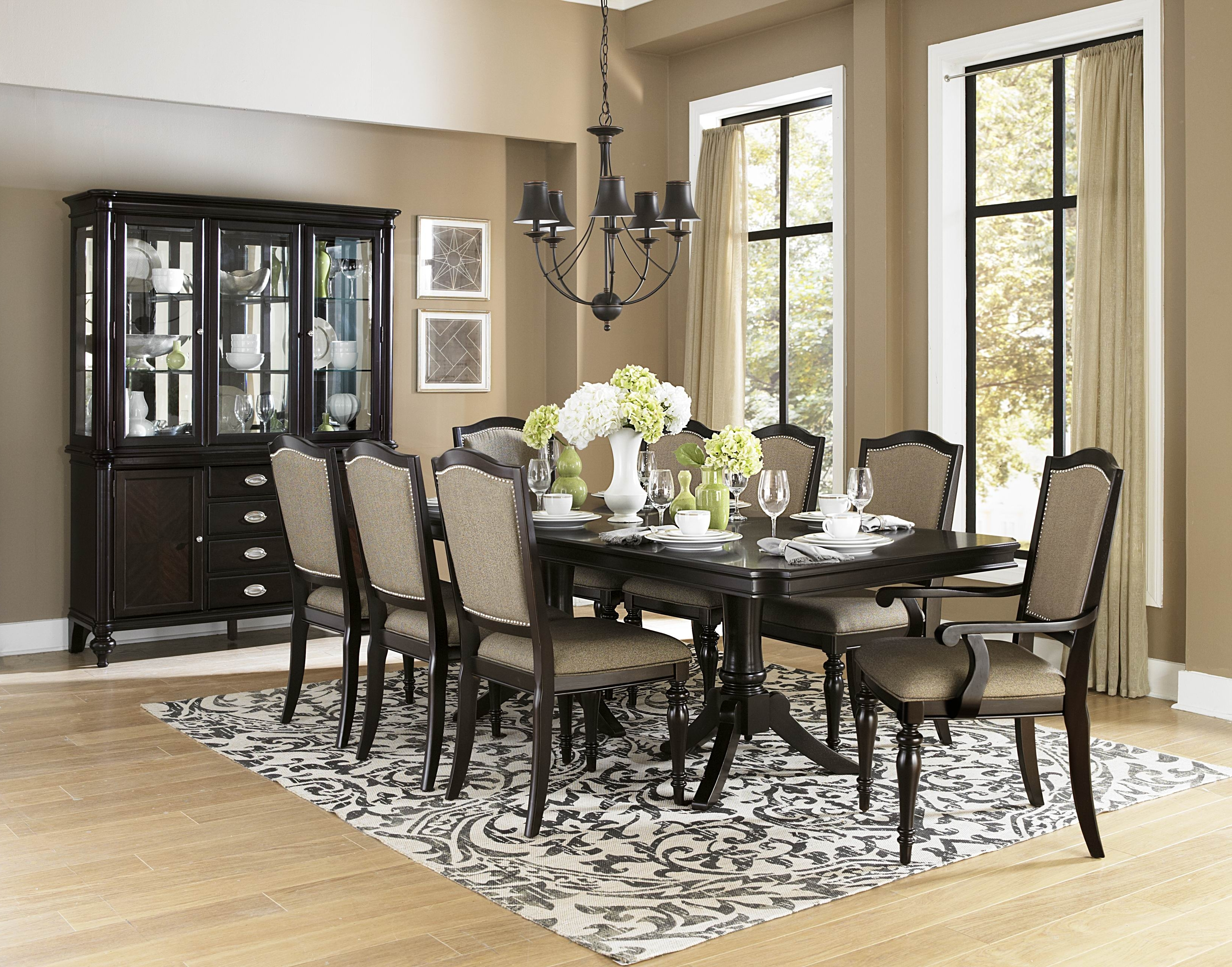 Dining Room Dark Wood Table Big Dining Room Table Black Dining Table within Widely used Dark Wood Dining Tables And Chairs