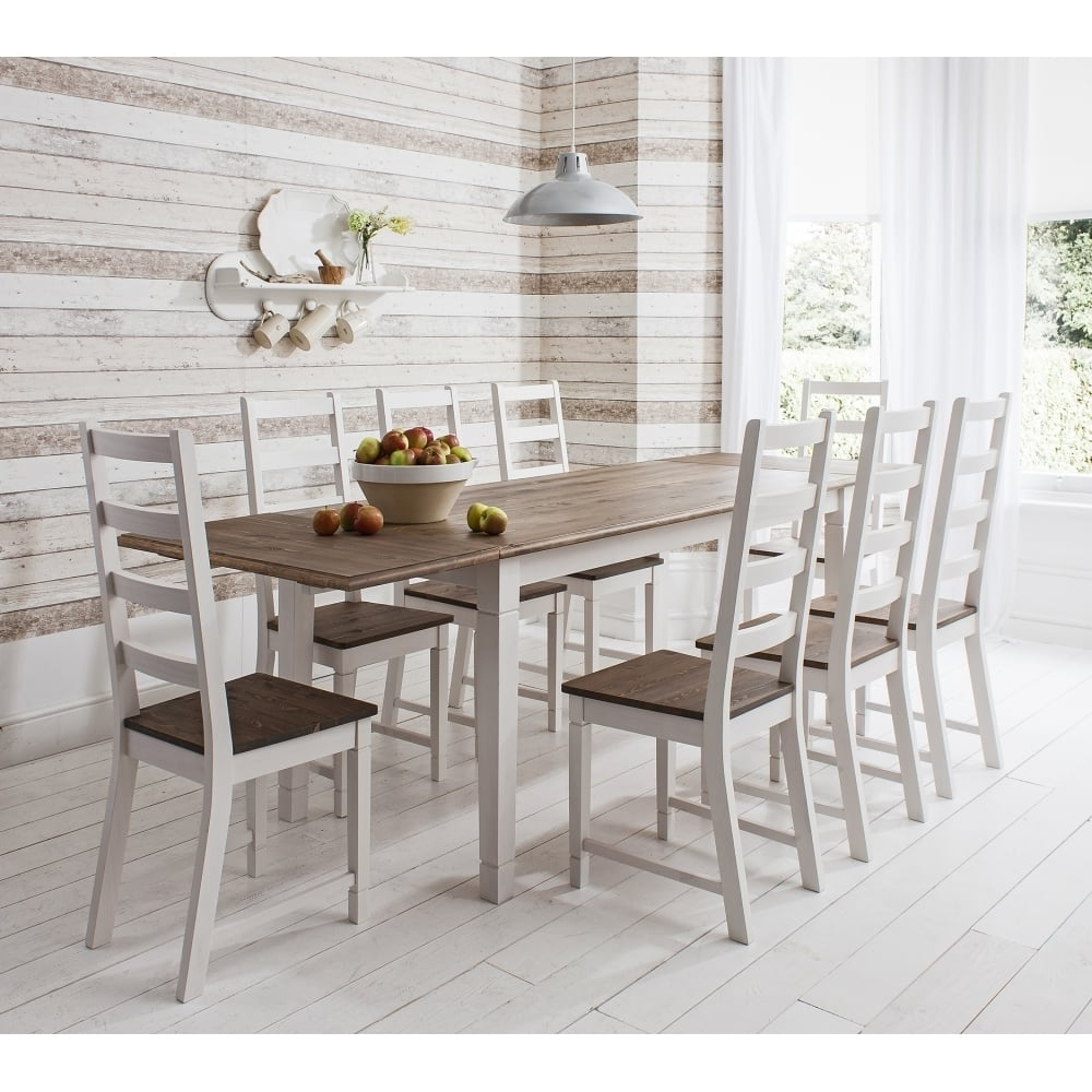 Dining Room Dining Room Furniture With Round Shaped Granite Top In 2018 White Dining Tables 8 Seater (View 7 of 25)