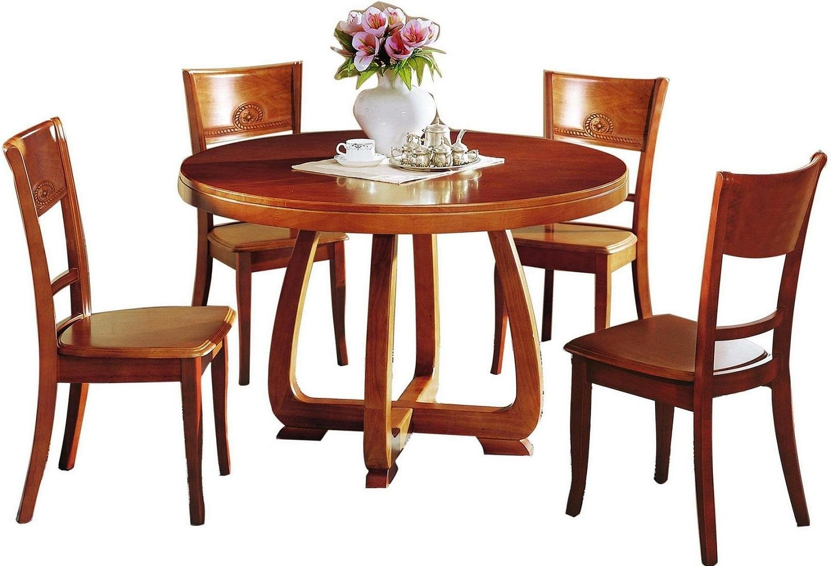 Dining Room Inspiring Wooden Dining Tables And Chairs Leather Dining Inside 2017 Wooden Dining Sets (View 4 of 25)