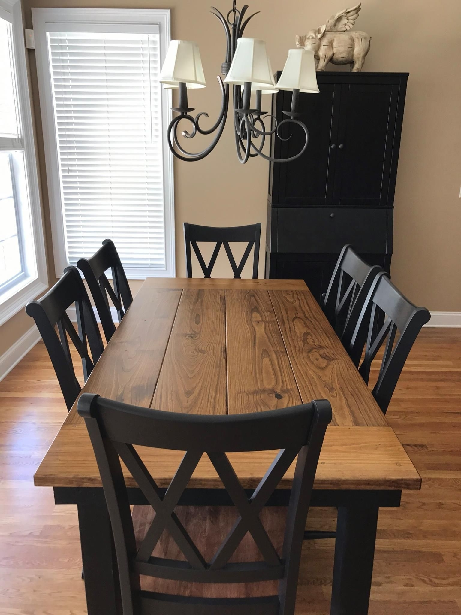Dining Room Intended For Preferred Washed Old Oak & Waxed Black Legs Bar Tables (View 3 of 25)