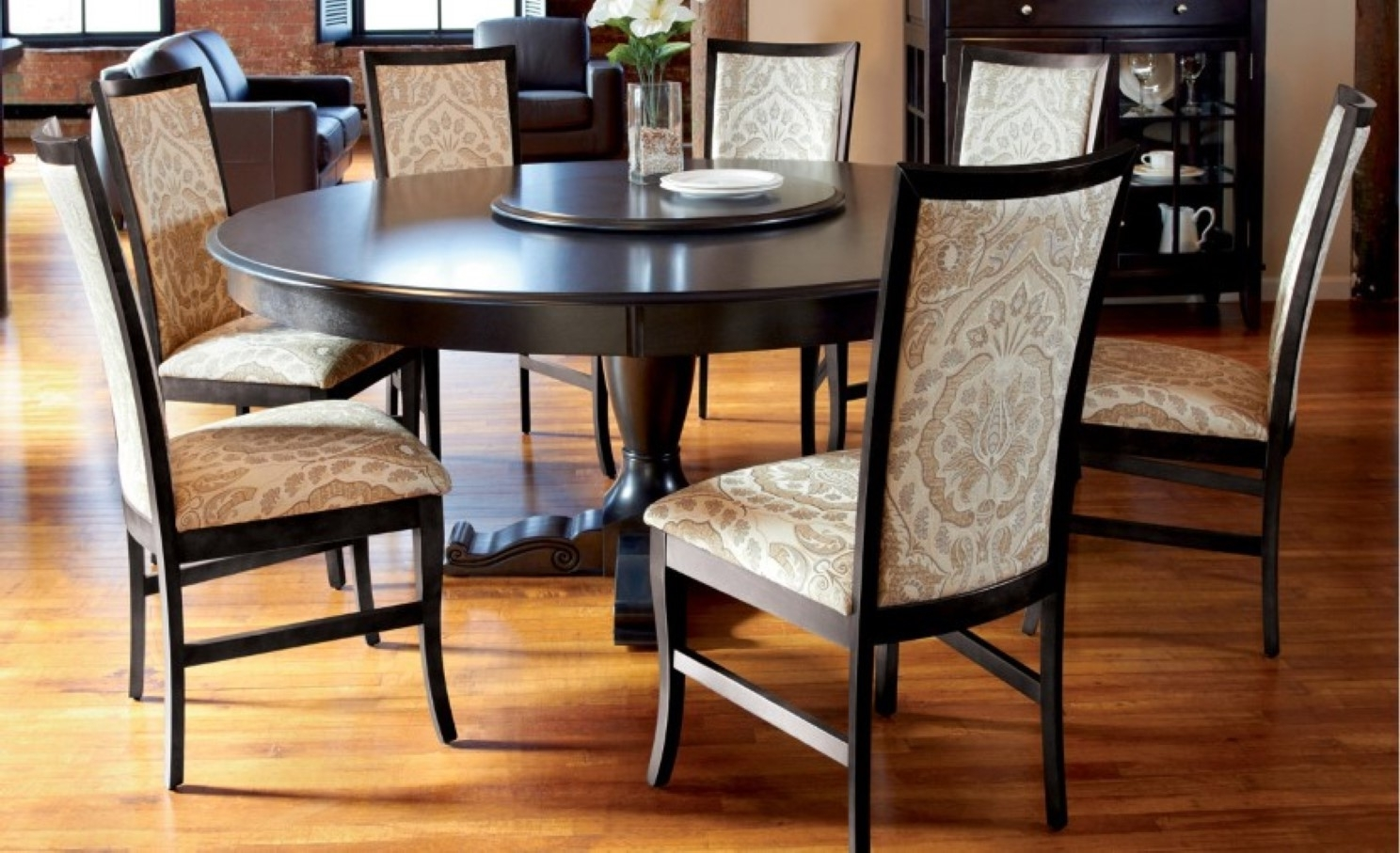Dining Room Large Solid Wood Dining Room Table Dining Chairs For Pertaining To Latest Dark Wooden Dining Tables (View 19 of 25)