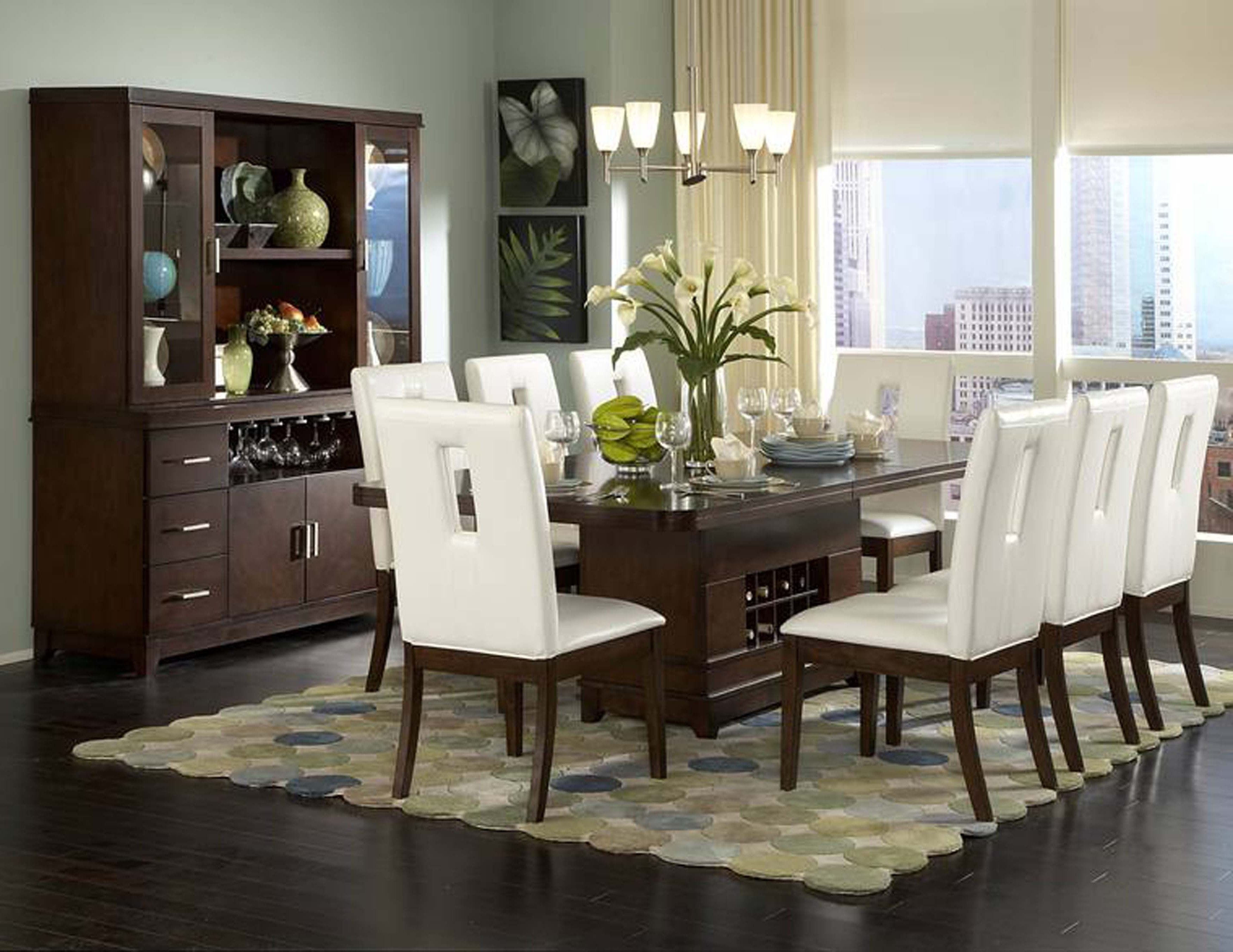 Dining Room. Outstanding 8 Chair Dining Set: Contemporary 8 Chair With Newest 8 Chairs Dining Sets (Gallery 8 of 25)