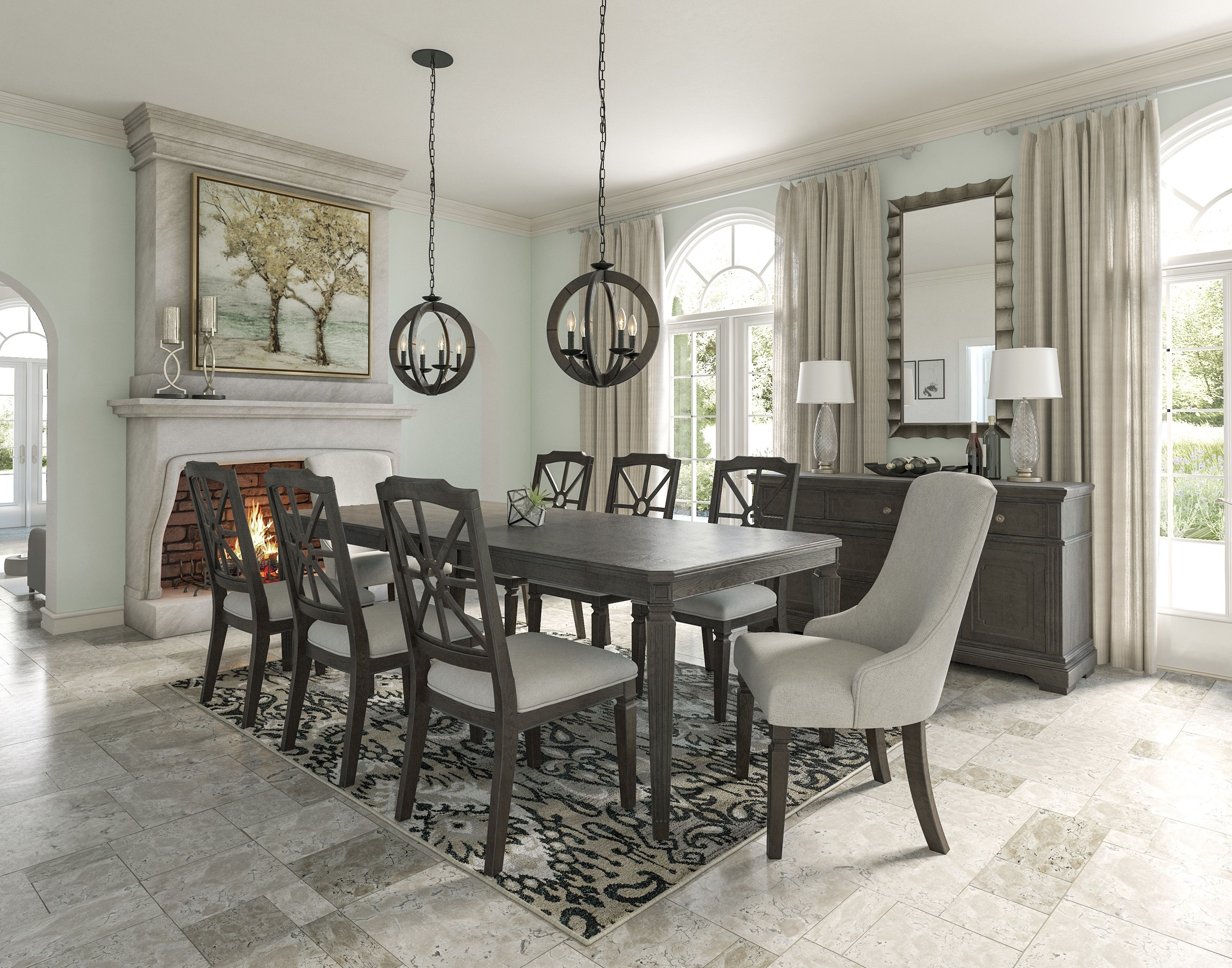 Dining Room Suites Pertaining To 2017 Mikalene 5 Piece Dining Room (View 22 of 25)