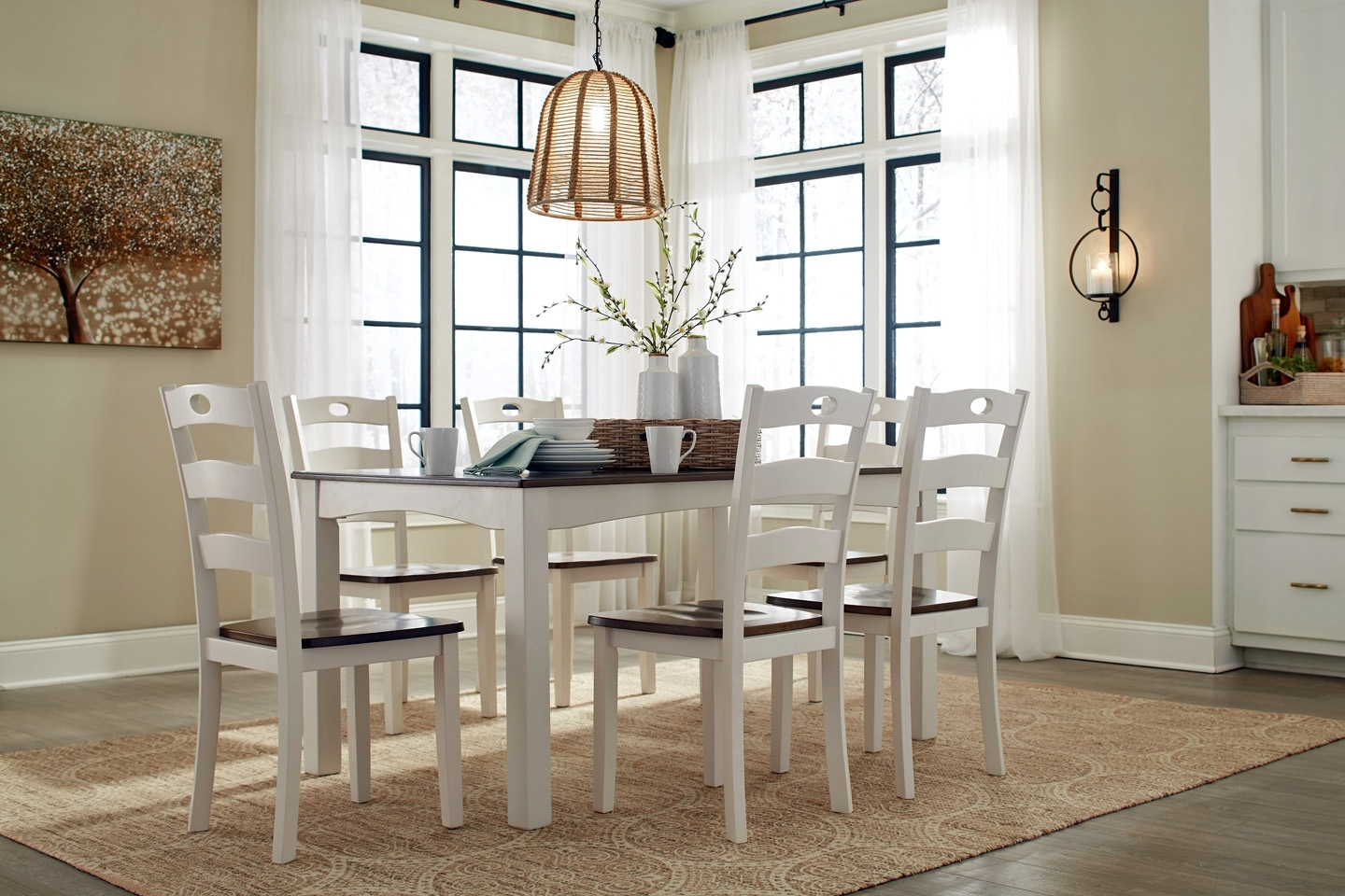 Dining Room Tables And Chairs Pertaining To Widely Used Top Furniture Dining Rooms, Tables & Chairs, Dinettes, Complete (View 20 of 25)