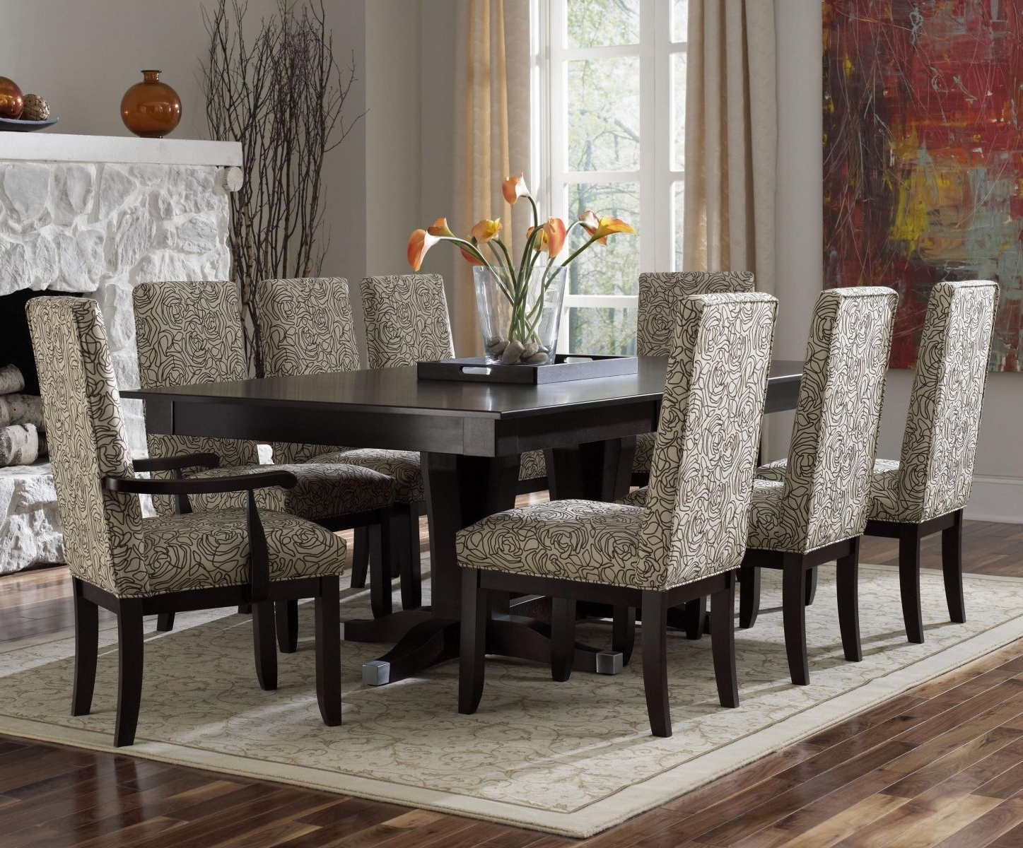 Dining Room Tables Regarding Fashionable Dining Room Contemporary Glass Dining Table Set Small Modern Dining (Gallery 25 of 25)