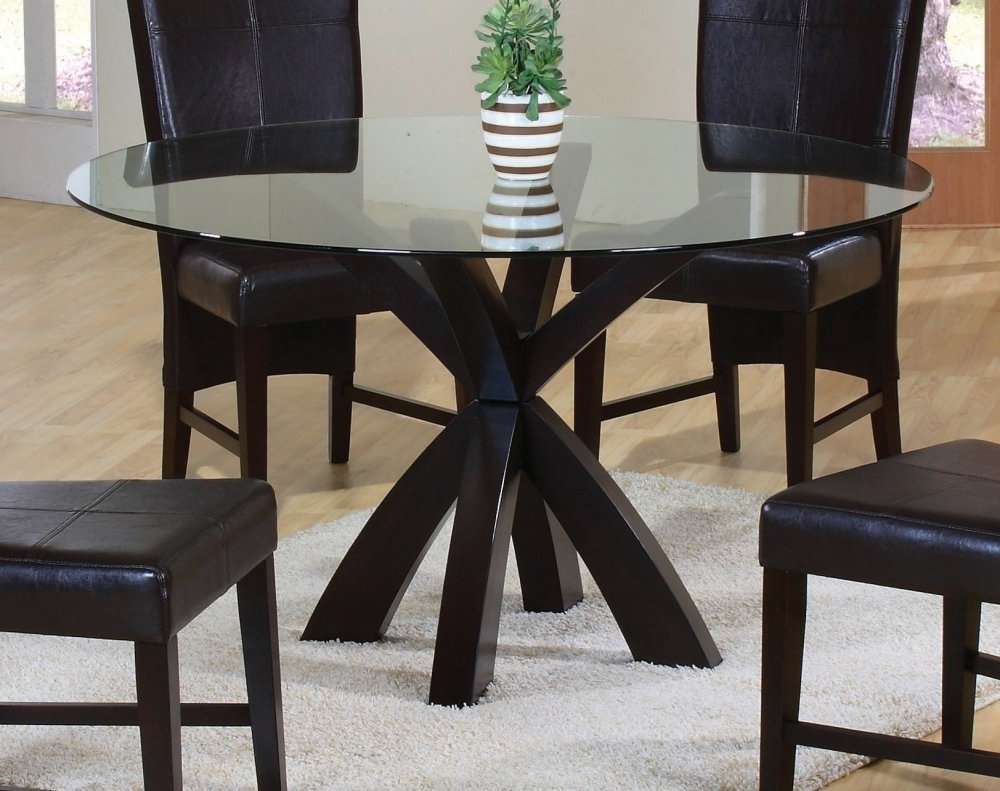 Dining Room White Glass Round Dining Table Glass Table Dinette Set Regarding Popular Black Glass Dining Tables (View 14 of 25)