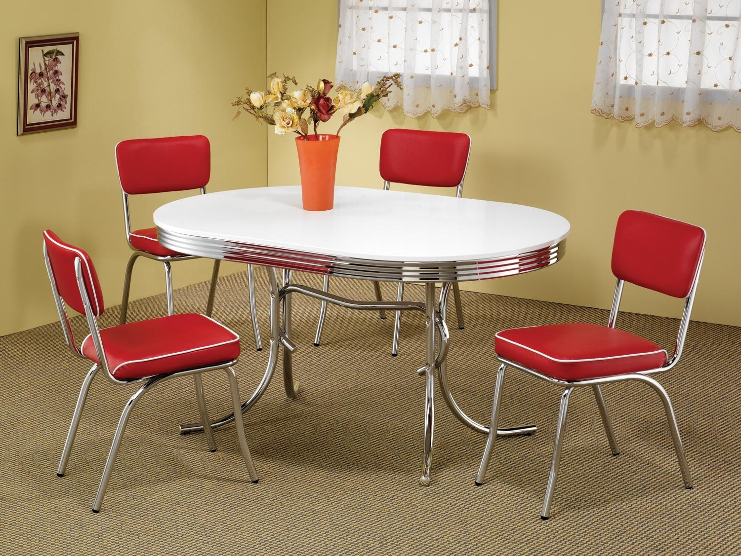 Dining Room With Recent Red Dining Table Sets (Gallery 19 of 25)