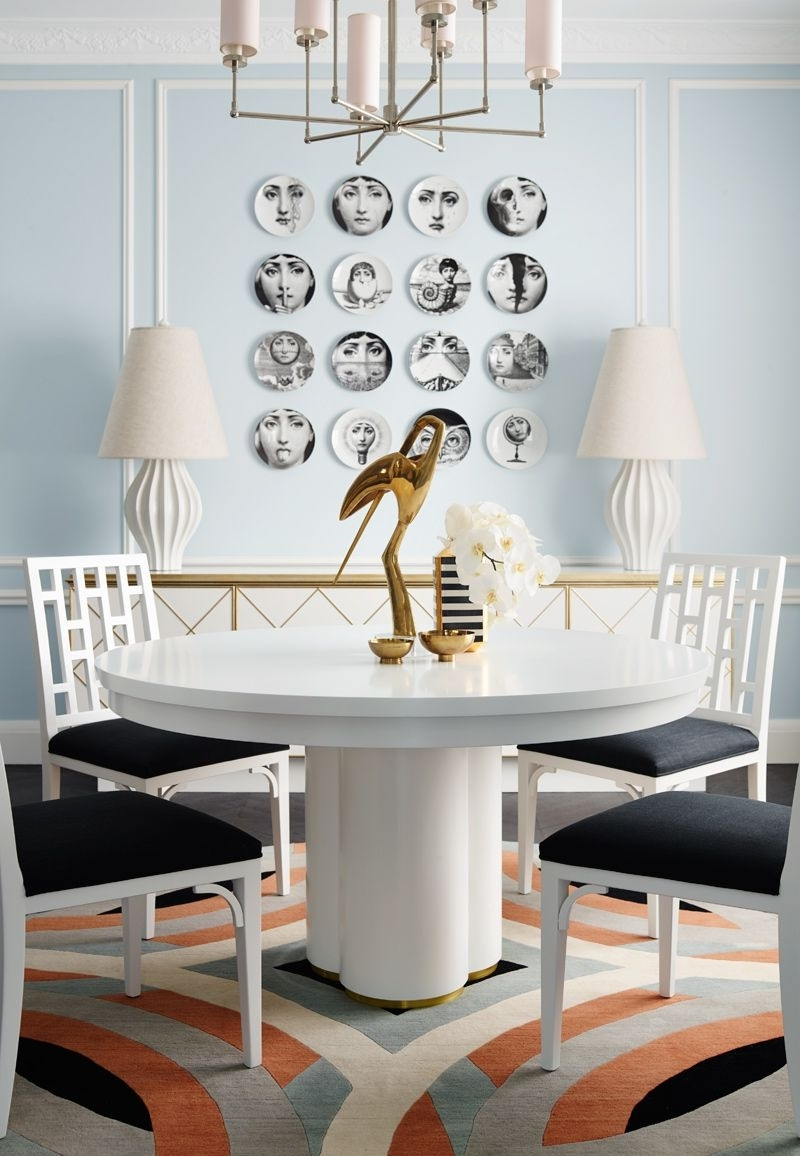 Dining Room餐厅 in Latest Hudson Round Dining Tables