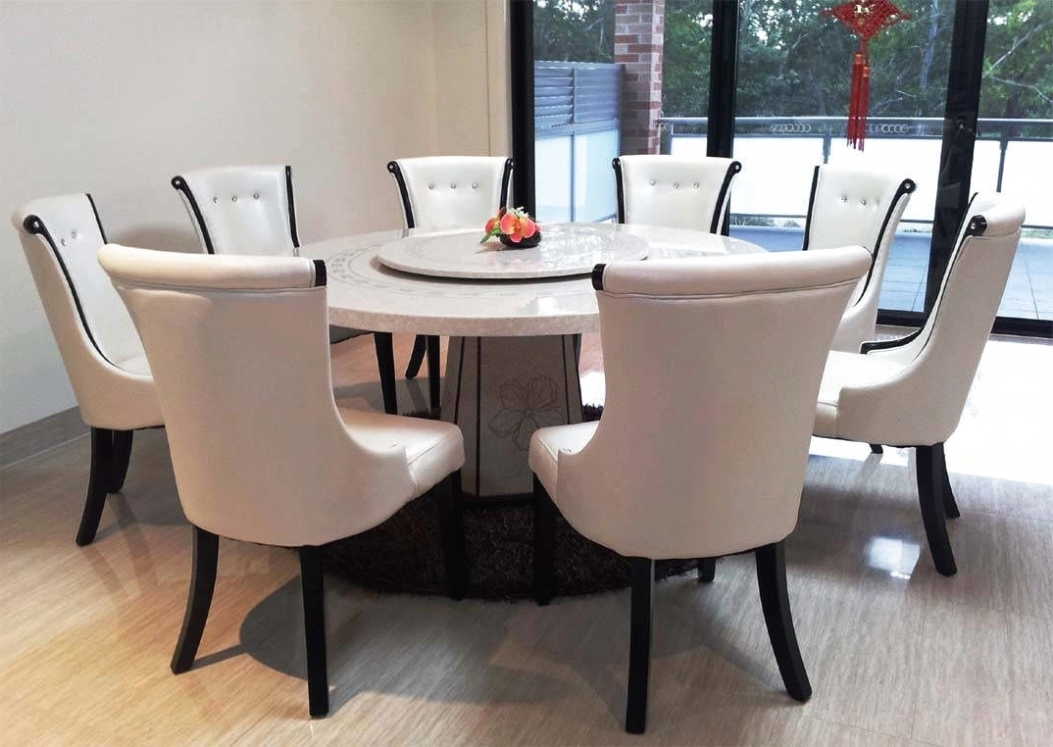 Dining: Round Dining Table 8 Chairs Intended For Large With Leaves intended for Most Recently Released Dining Tables 8 Chairs