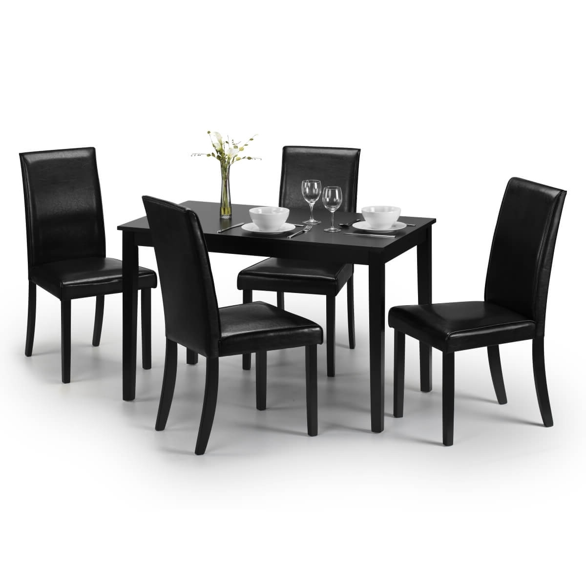Dining Set – Hudson Dining Table And 4 Chairs In Black Hud006 Throughout 2017 Hudson Dining Tables And Chairs (View 3 of 25)