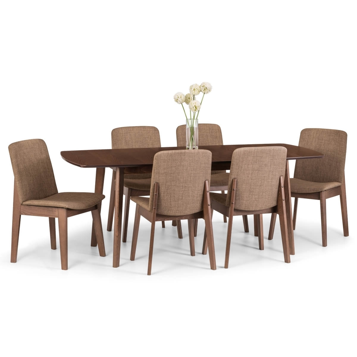 Dining Set – Kensington Dining Table, 6 Chairs In Walnut Ken205 With Regard To Well Liked Walnut Dining Table And 6 Chairs (View 8 of 25)