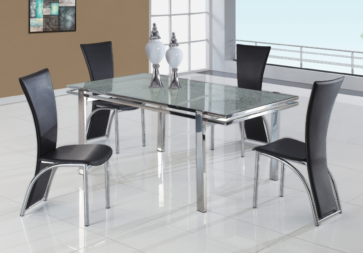 Dining Sets – Adorn Furniture Regarding Well Known Glass And Stainless Steel Dining Tables (View 5 of 25)